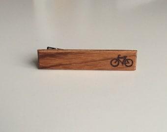 Bicycle Tie Clip - tie clip - wood tie clip - tie - bicycle