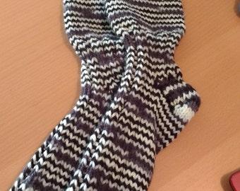 Grey and black socks