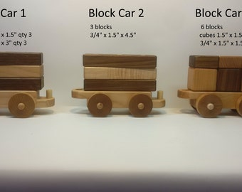 Set of Three (3) additional cars for Three-in-one toy train set