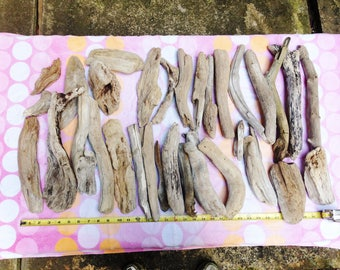Driftwood 32 Piece  Beach Comber Set Craft Nautical Decor Weddings