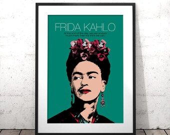 Frida Kahlo Poster, Celebrity Printables, Frida Kahlo Print, Frida Kahlo Wall Art, Frida Kahlo Custom Quote, Frida Kahlo Posters and Prints
