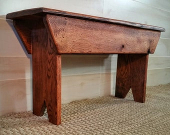 Bench, Rustic Bench, Reclaimed Walnut Bench, Reclaimed Wooden Bench, Entryway Bench, Mudroom Bench, Porch Bench, Walnut Bench, Bedroom Bench