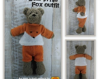 Tom Bear Knitting Kit - Make Your Very Own Teddy bear - Easy To Knit Pattern