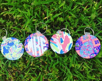 Lilly Pulitzer Inspired Keychain