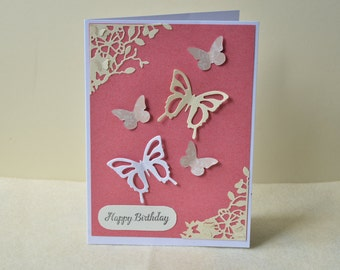 Birthday card, butterfly card