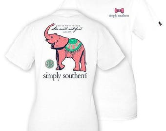 "Simply Southern ""Baby Elephant"" T-shirt W/ Monogram Option"