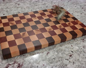 Walnut, Sapele, Maple Cutting Board