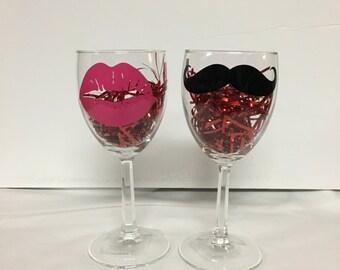 Verres à vin du Couple de la Saint-Valentin