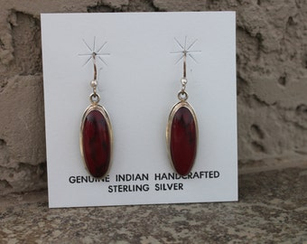 Jasper and Stering Silver Earrings