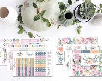 Eucalyptus Floral || Weekly Planner Kit (140 Planner Stickers) || Erin Condren, Happy Planner, Recollections || SeattleKangarooPlans