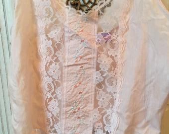 Vintage Pink Lace Camisole