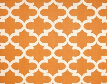 Premier Prints Fabric | Fynn Fabric | Designer Fabric | Quarterfoil Fabric | Upholstery Fabric | Premier orange fabric | Fabric by the yard