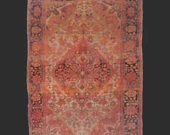 Ferahan / Farahan antique persian rug 4.9 x 3.3 ft / 150 x 100 cm carpet farahan sarouk malayer 5 x 3 ft - Free Shipping US CA EU