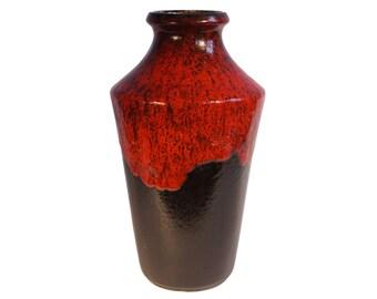 "West Germany Lava Vase 12"" tall"