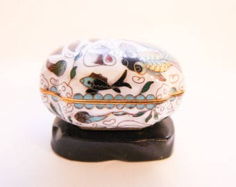 Cloisonne Small Jewelry Box On Stand