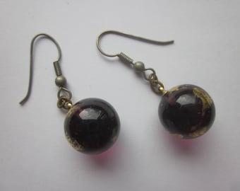 Vintage Italian Glass Bead Earrings