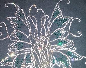 Fairy on a Toadstool Crystal Rhinestone T-Shirt
