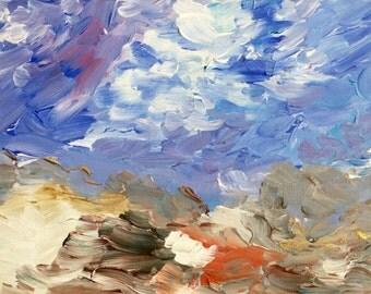 Original Abstract Acrylic Painting 9x12