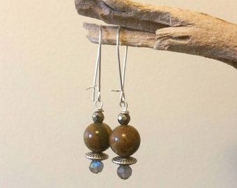 Agate & Labradorite Earrings
