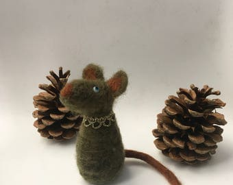 OOAK, Mouse,Feltpet, felt mouse, felted mice, needle felted mouse