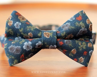 Dreamy Night Cat Bow Tie Collar