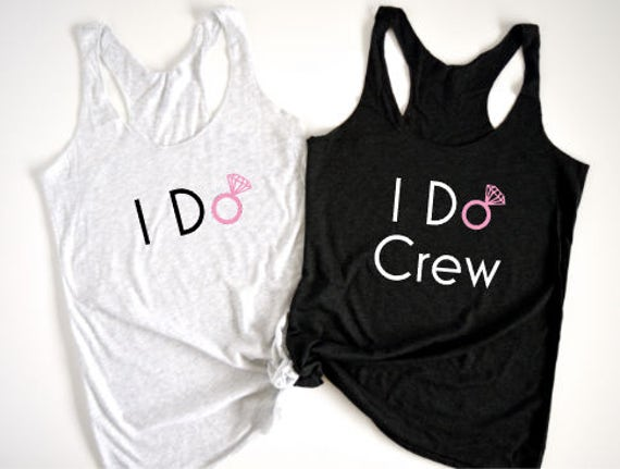 I Do and I Do Crew - Pink Diamond - Ladies Racerback Tank