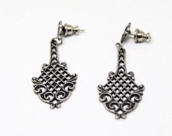 VTG Silver Mini Chandelier Drop Earrings