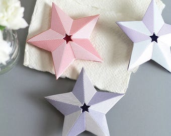 Decorative paper origami stars