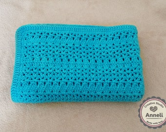 Crochet Baby Blanket/ Baby Blanket/ Crochet Baby Blanket/ Turquoise blanket/ Summer blanket/ Summer baby blanket/ Travel stroller pram size