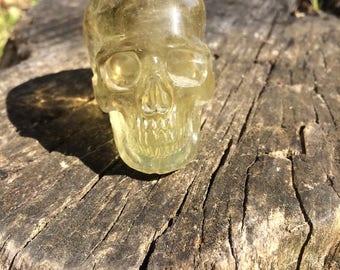 Natural Citrine Crystal Skull