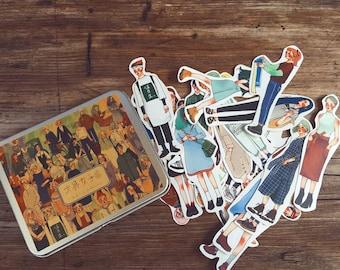 NEW La Dolce Vita Bun-gu Girls Tin Sticker Set