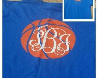Monogrammed Basketball Shirt, Monogrammed Basketball Tee, Monogrammed Basketball,  Basketball Shirt,  Basketball Tee, Monogrammed Shirt