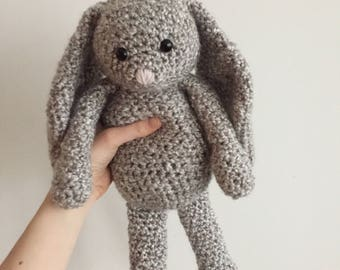 Crochet Bunny // Stuffed Childrens Toy // The Charlotte Bunny