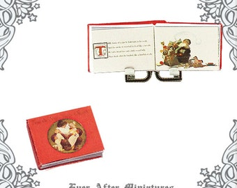 T'was the Night Before Christmas Dollhouse Miniature Book – 1:12 ORIGINAL T'was the Night Before Christmas Miniature Book Printable DOWNLOAD