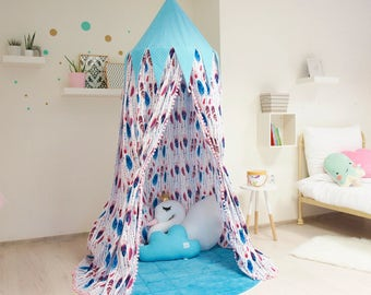 canopy with play mat, princess room decor, canopy, boho room decor, girl room decor, bed netting, play tent, reading canopy, reading nook