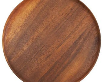 Wooden Plate, 10 inches (25 cm.), wooden plate, handmade wooden plate, wooden bowl, wooden dish,plate,bowl, dish,