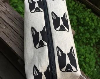 French bulldog pencil pouch