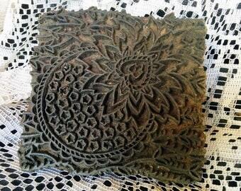 Vintage Wooden Hand carved Printing Block