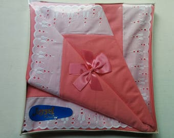 Pair of Boxed 1970s Joysel Cotton Pillow Cases in Pink
