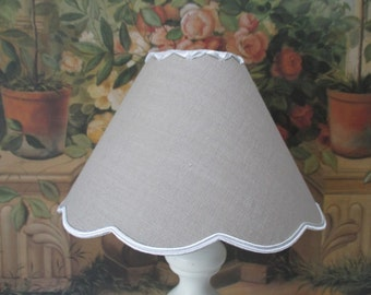 Lampshade clip - grey SWAGS or other colors - handmade