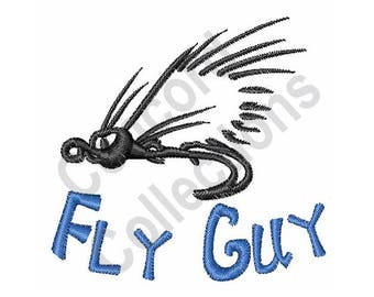Fish Fly Machine Embroidery Design