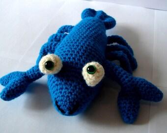 Lobster, Crochet Lobster, Amigurumi Lobster, Teal Lobster, Handmade, Soft Toy