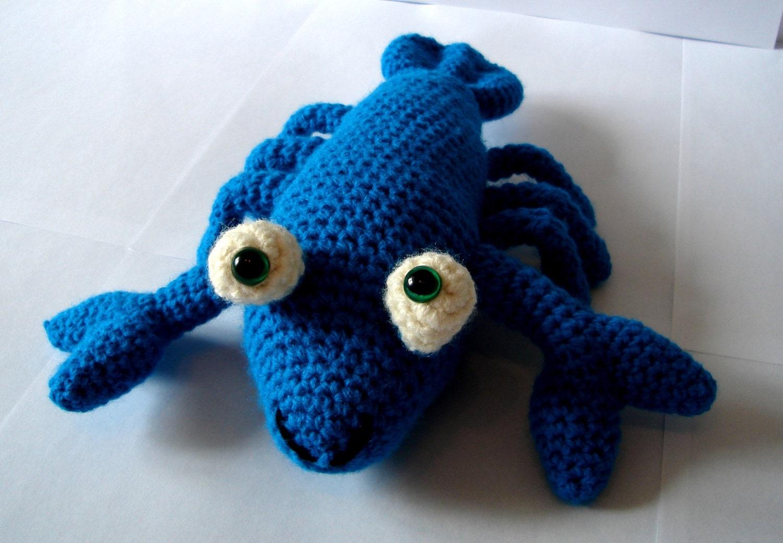Lobster Crochet Lobster Amigurumi Lobster Teal Lobster