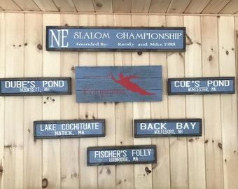 Custom wood signs