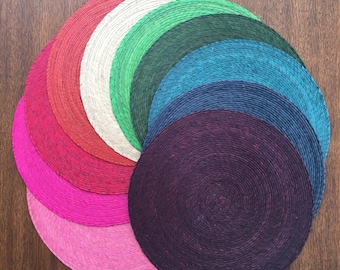 Round Colorful Mexican Woven Placemats