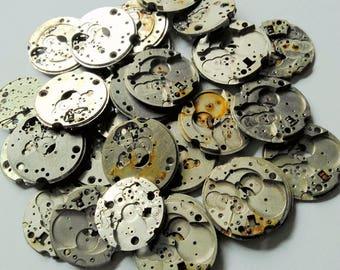8pcs Vintage Watch Parts Watch Movement Plates Steampunk Aletered Art Deco Supply