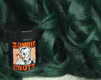 "ZOMBIE SNOTT ""Gamma Ray Green"" Brand New long-lasting hair color to Dye for! 4oz"