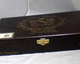 Don Conti  Non Plus Ultra Torpedos Empty Cigar Box