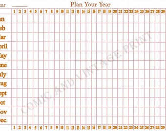 Wall Planner - 2018 Re-usable Laminated A4 Year Planner Allows You to Note all Yearly Events and Appointments - Continual Easy Clean Planner