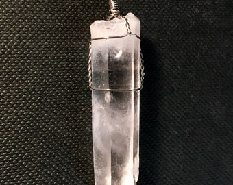 Large Raw Quarz Crystal Necklace
